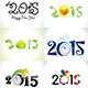 Happy New Year Text Background Set - GraphicRiver Item for Sale