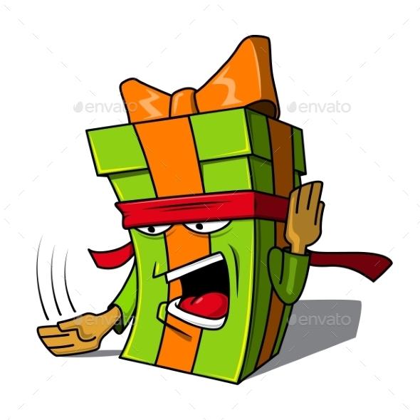 Present Box Character.