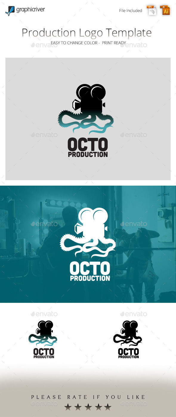 Octo Production Movie Studio Logo