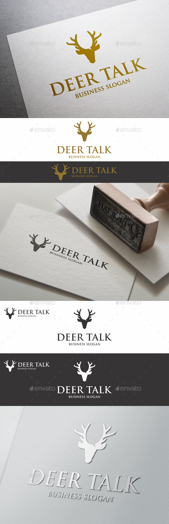 Deer Talk Logo Template
