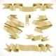 Set of vector festive golden ribbons various forms - GraphicRiver Item for Sale
