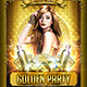 Golden Party (Flyer Template 4x6) - GraphicRiver Item for Sale