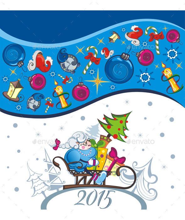 Vector Card of New Year