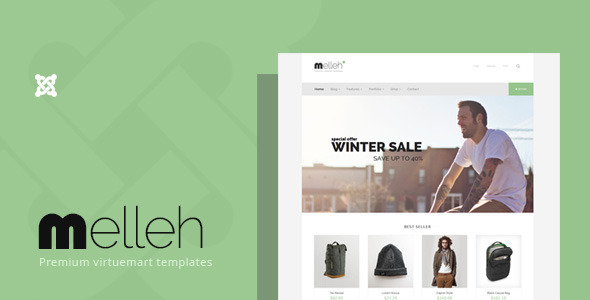 Melleh - Clean Ecwid and Virtuemart Template