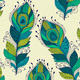 Seamless Pattern with Peacock Feathers - GraphicRiver Item for Sale
