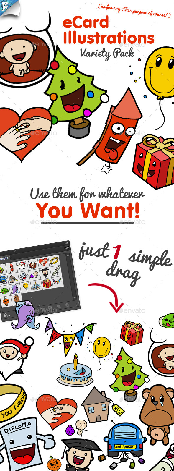eCard Illustrations - Variety Pack