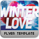 Winter Love Flyer Template - GraphicRiver Item for Sale