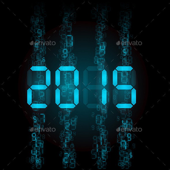 Digital 2015 Numerals.