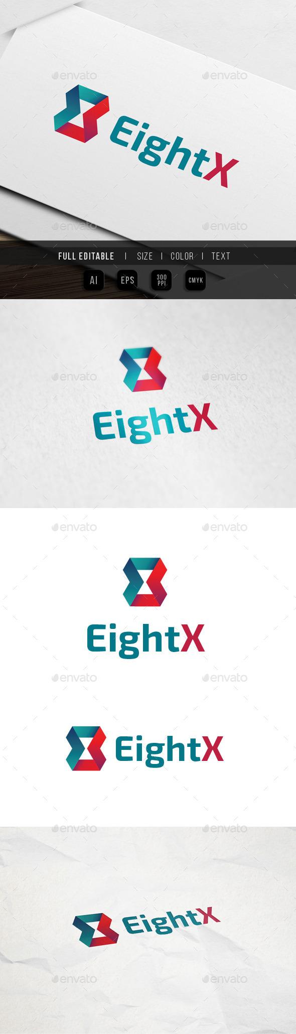 Eight x - Ribbon - Feedback Logo