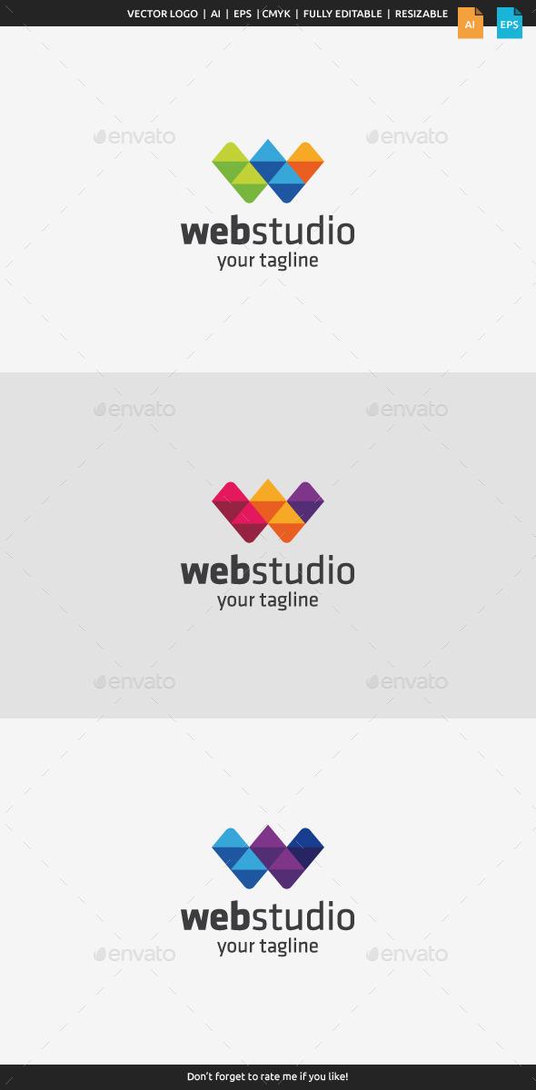 Web Studio - Letter W