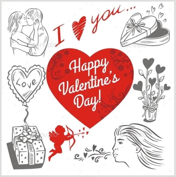 Valentines Day - Vector Set.