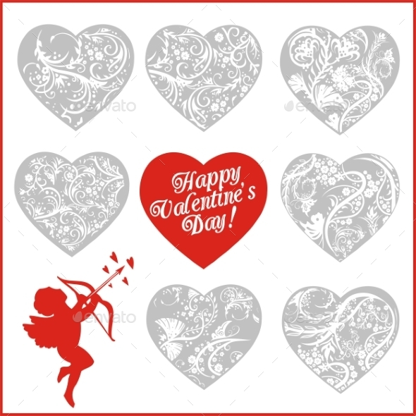 Red Hearts -  Valentines Day.