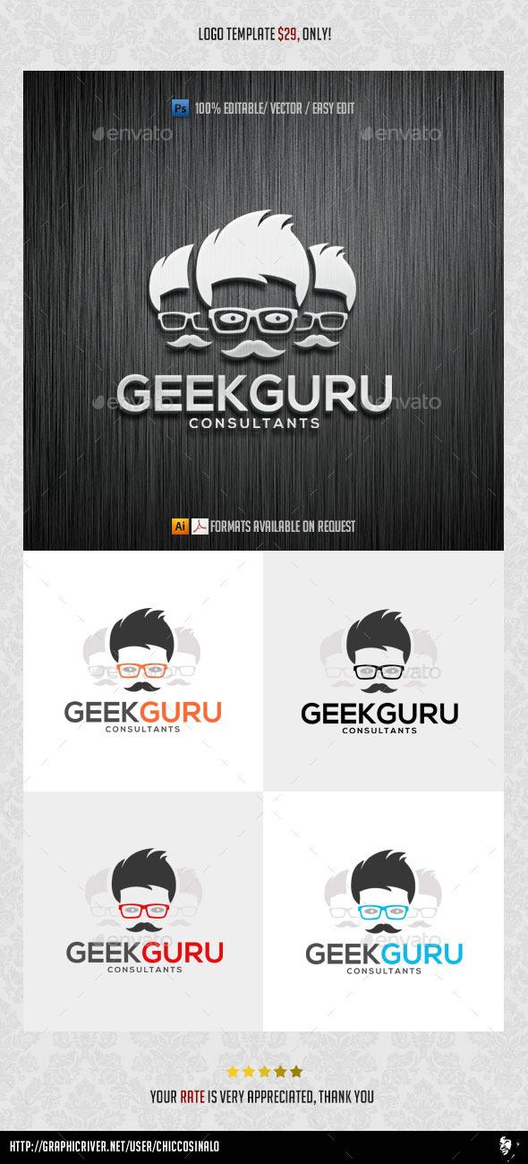 Geek Guru Logo Template