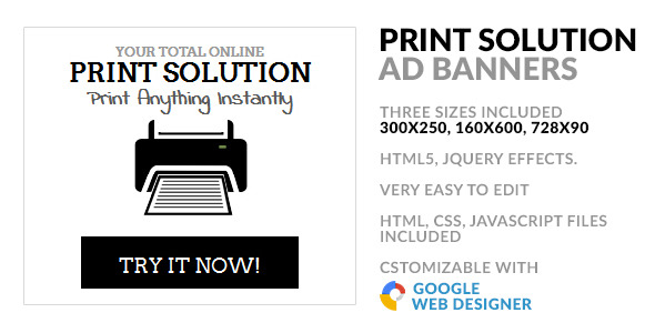 Online Print Service HTML5 GWD Ad Banner