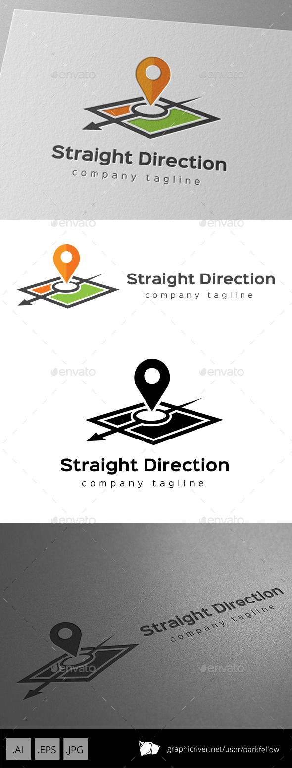 Arrow Map Direction Logo