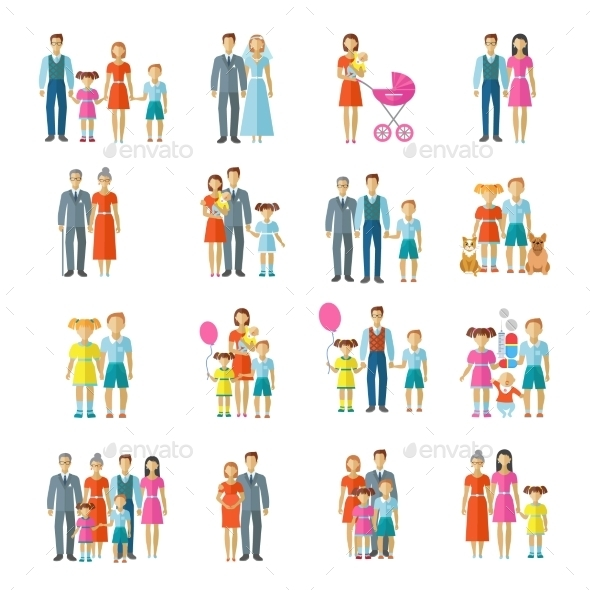 Family Icons Flat