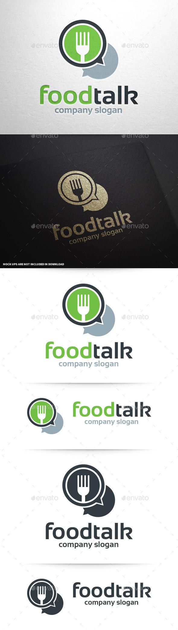 Food Talk Logo Template