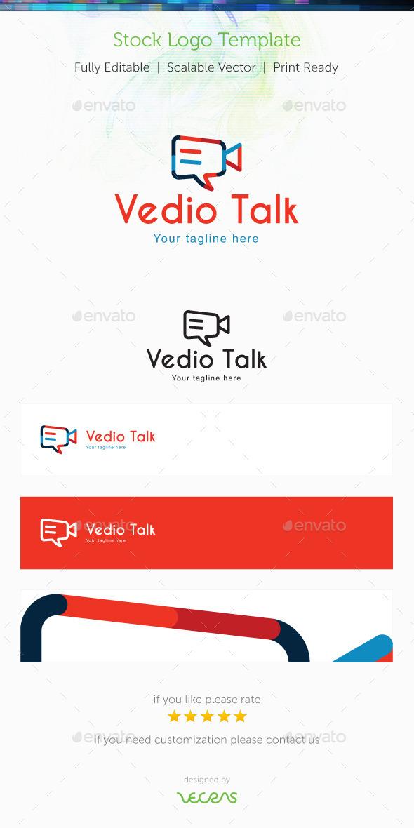 Video Talk Stock Logo Template