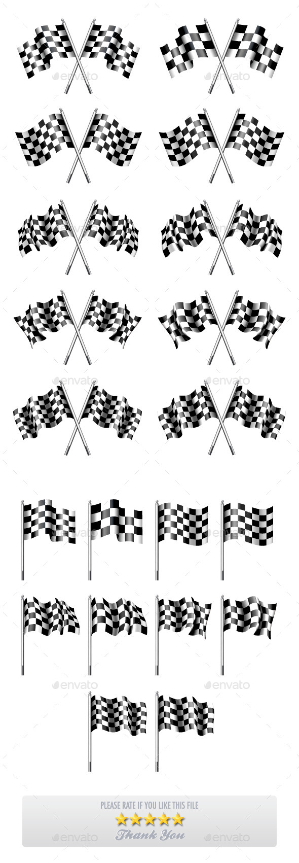 10 Versions of Chequered Flags