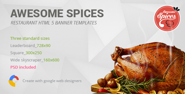 Awesome Spices   Restaurant HTML5 Banner Template