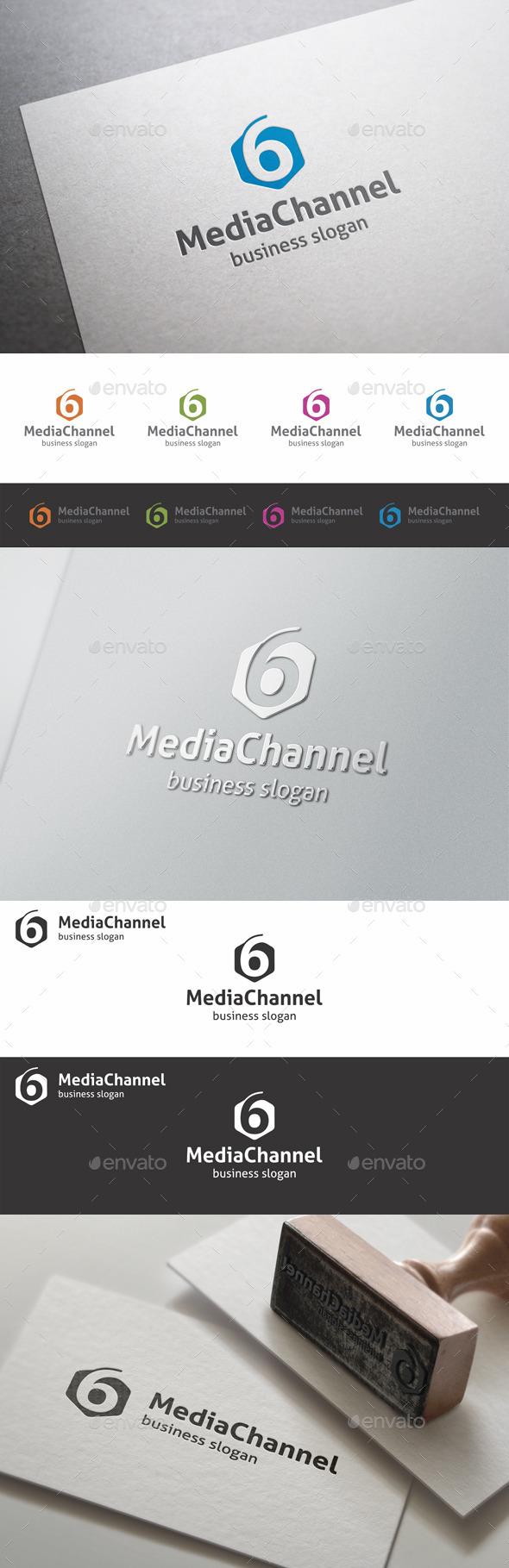Six Media Channel Studio Logo