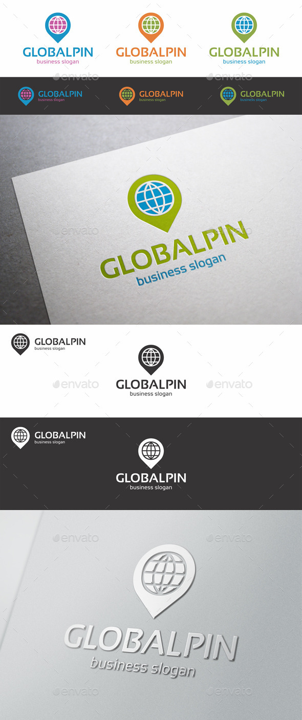 Global Pin Point Locator Logo