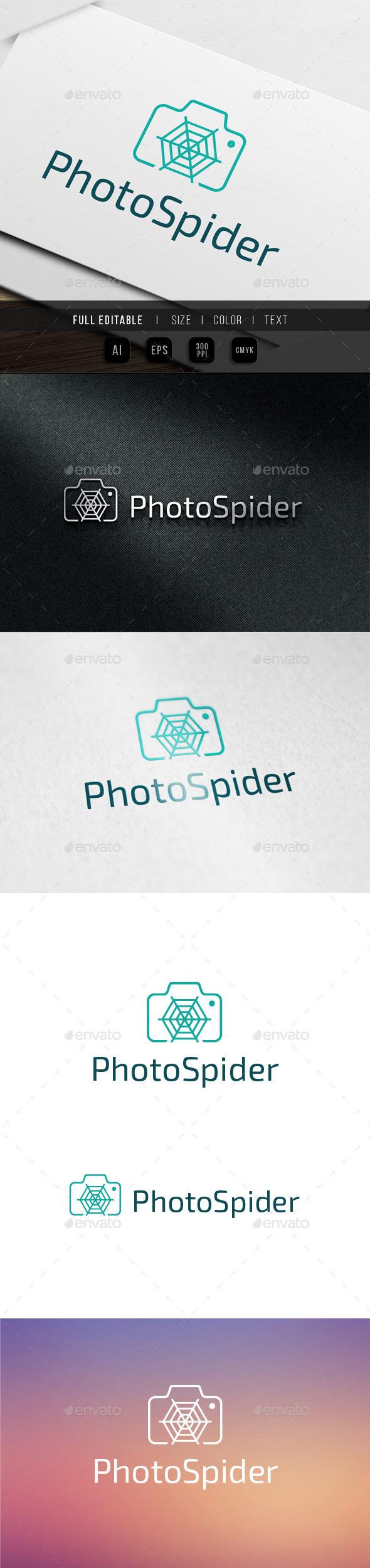 Photo Spider - Micro Shot Logo Template