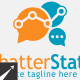 Social Chatter Stats Logo Template - GraphicRiver Item for Sale