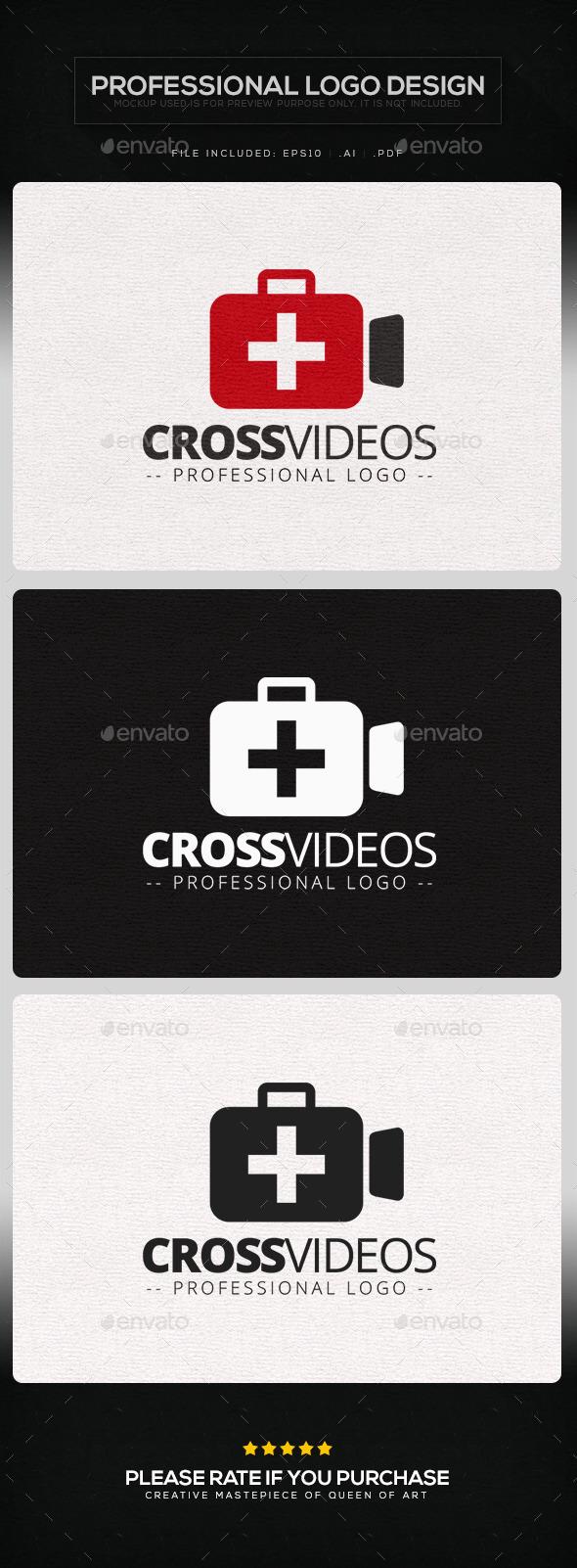 Cross Videos Logo Template