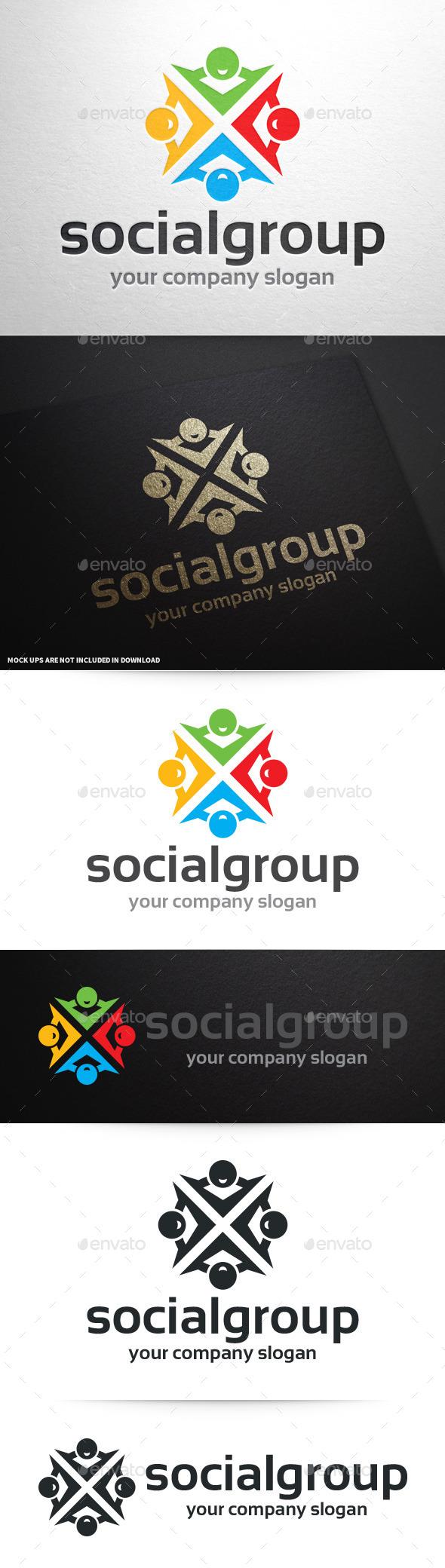 Social Group Logo Template