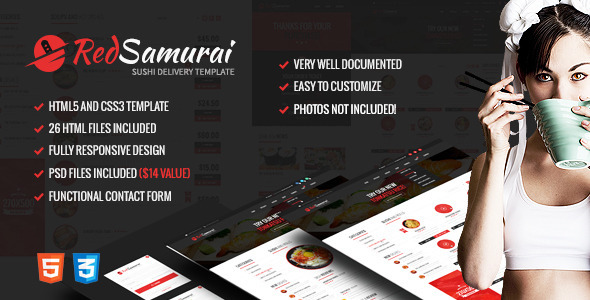 Red Samurai HTML5 and CSS3 Responsive Template