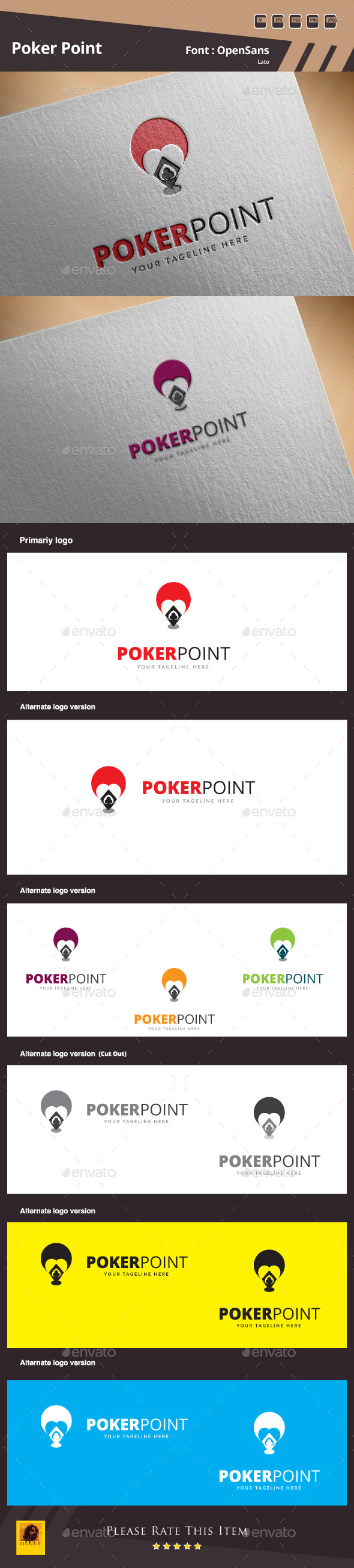 Poker Point Logo Template