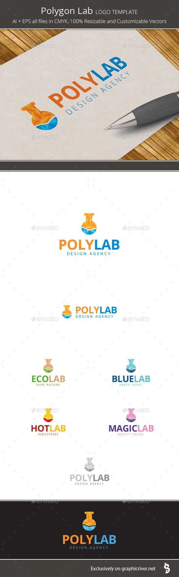 Polygon Lab - Logo Template