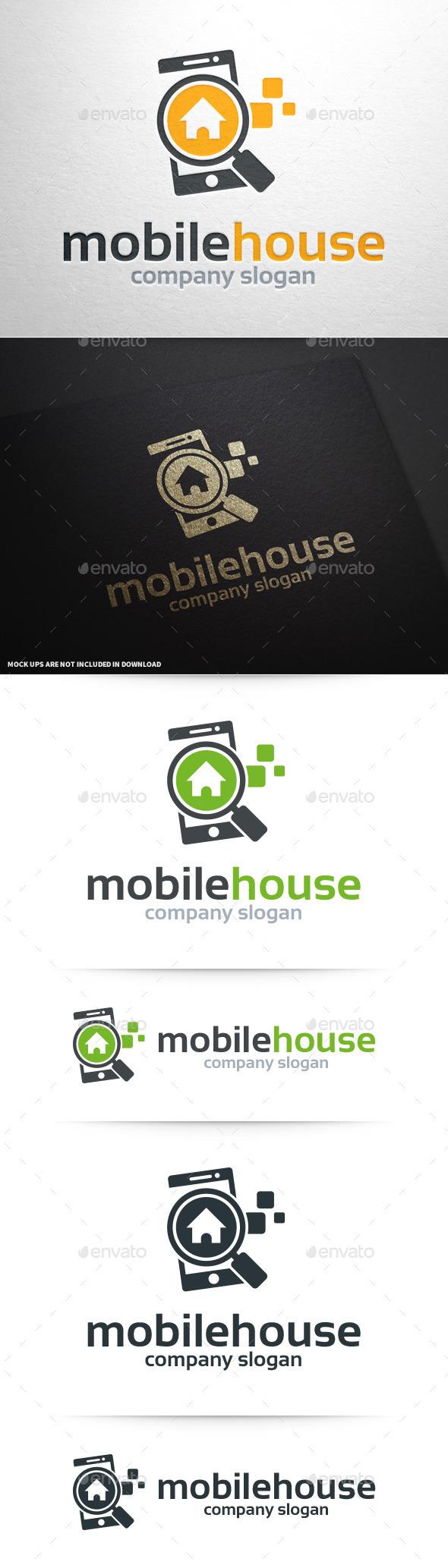 Mobile House Logo Template