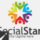 Social Star Logo Template - GraphicRiver Item for Sale