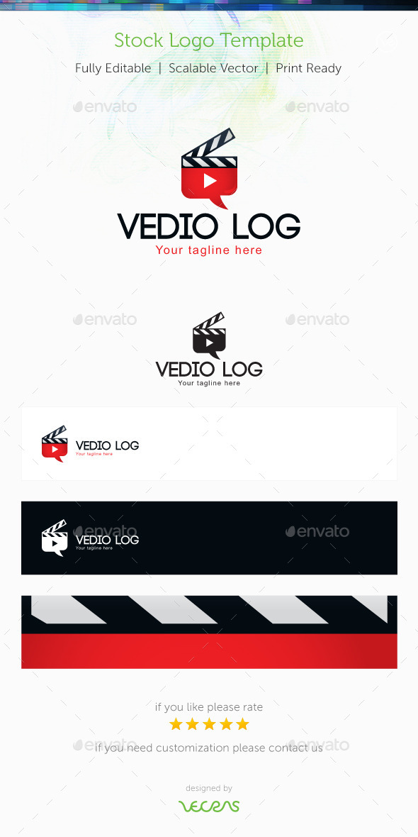 Video Log Stock Logo Template