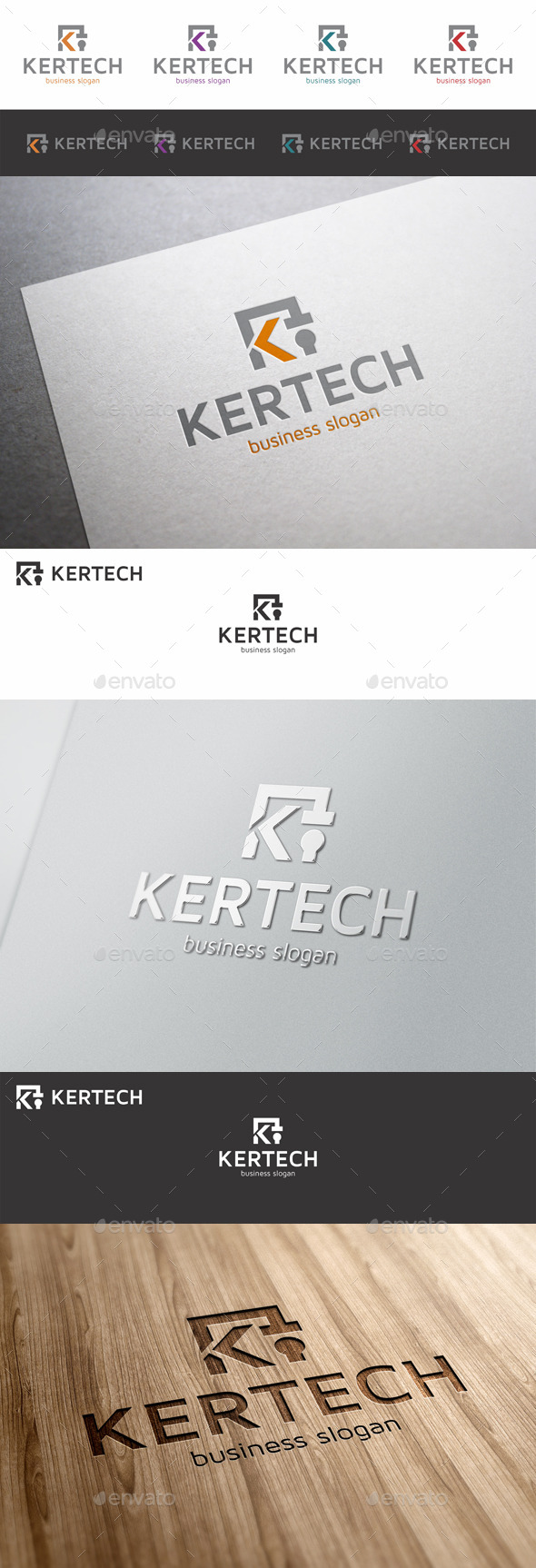 K Letter Logo Template - Kertech