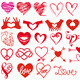 Heart and Love Set - GraphicRiver Item for Sale
