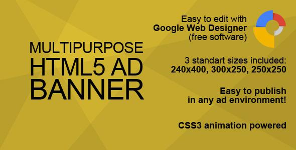HTML5 Multipurpose Ad Banner