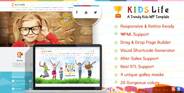 Kids Life | Children School WordPress