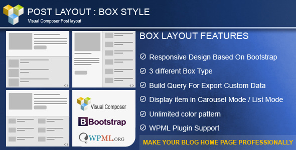 Post Layout : Box Style  for Visual Composer Download