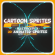 Cartoon Sprites FX (Electricity 2) - GraphicRiver Item for Sale