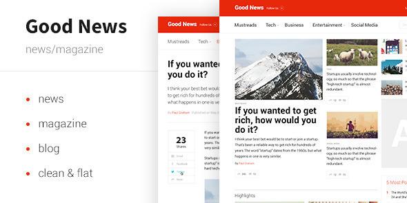 Dobra wiadomość - szablon wiadomości i czasopisma