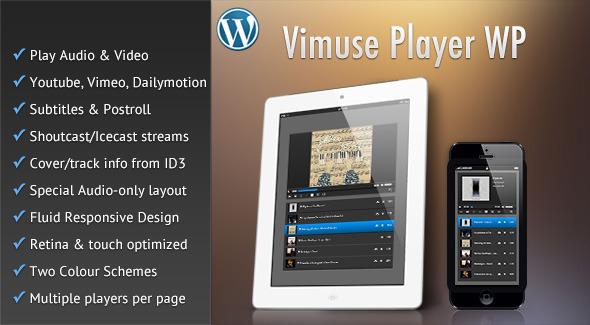 Vimuse - Media Player Wordpress Plugin
