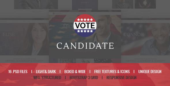 Candidate - Political PSD Template
