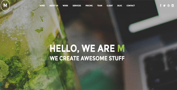 M - Creative Multi-Purpose One Page WordPress Theme