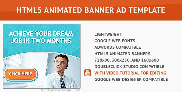 Best Job HTML5 Animated Banner