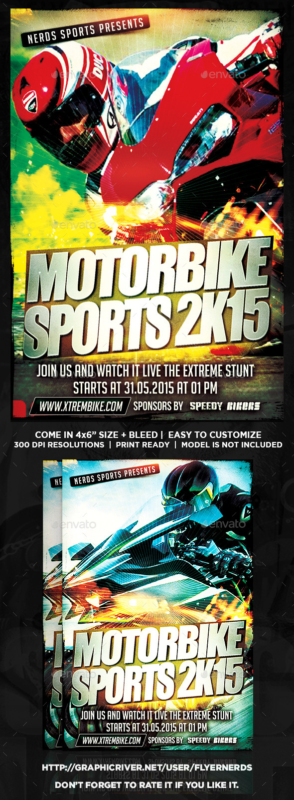 Motorbike Flyer Graphics Designs Templates From Graphicriver