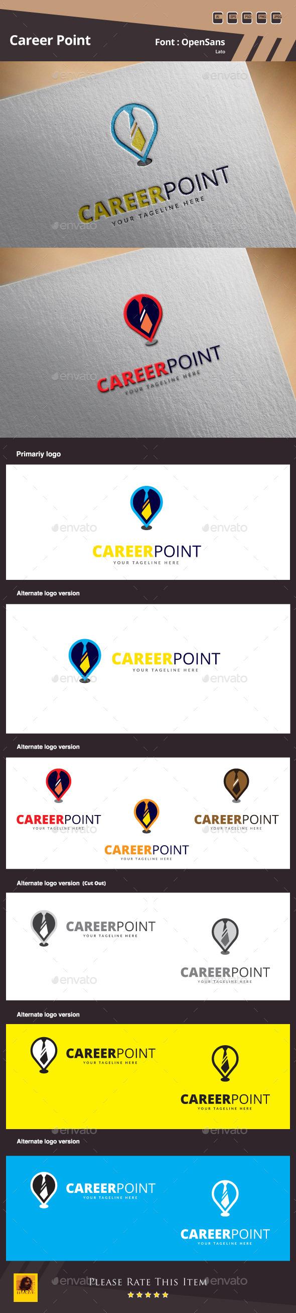 Career Point Logo Template