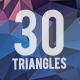30 Triangles Background Bundle - GraphicRiver Item for Sale